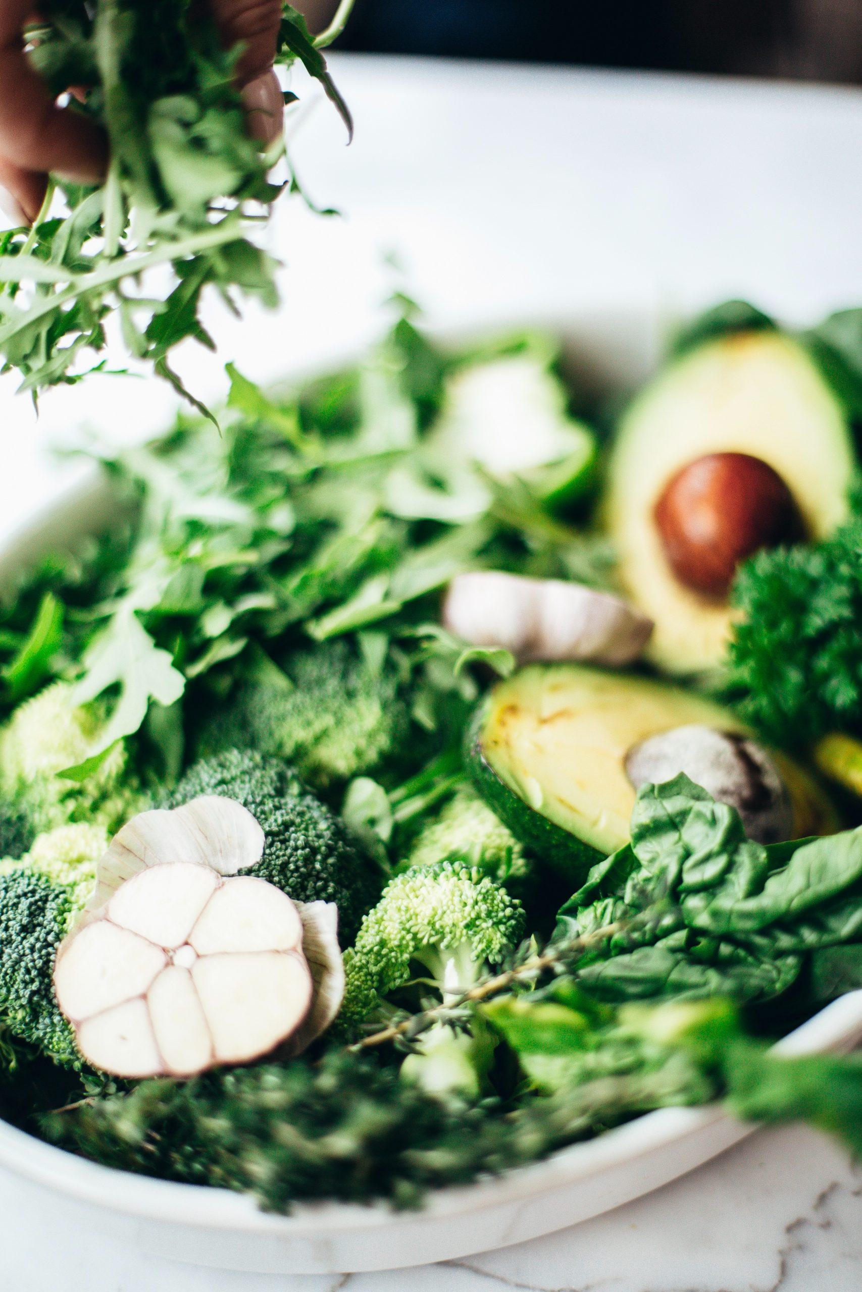 Platter of vegetables.